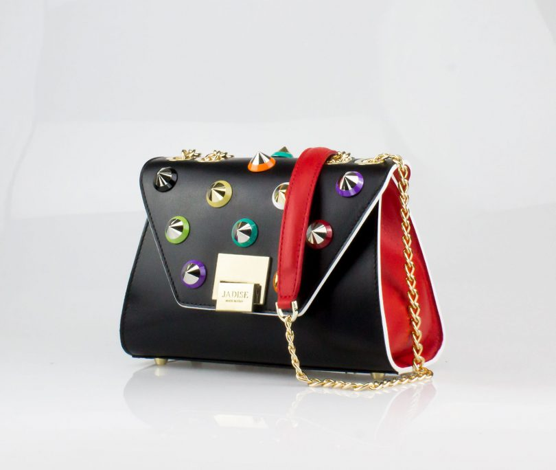 Pochette Mini Bag donna Silvie Color Studs Jadise fianco no occhi