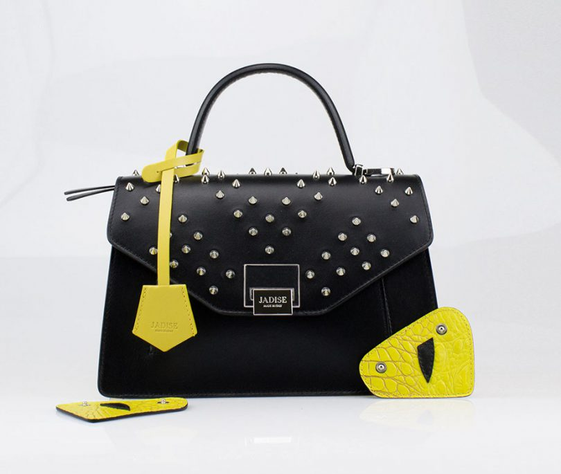 Borsa a tracolla donna Kate Optical Studs Jadise fronte