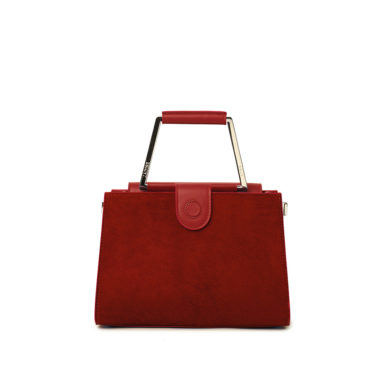 Borsa a spalla donna Adele Big Pony Red fronte