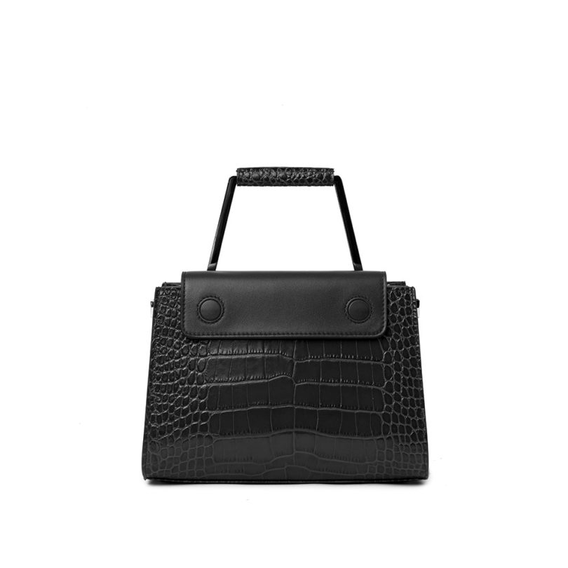 Borsa a spalla donna Adele Big Cocco Black retro