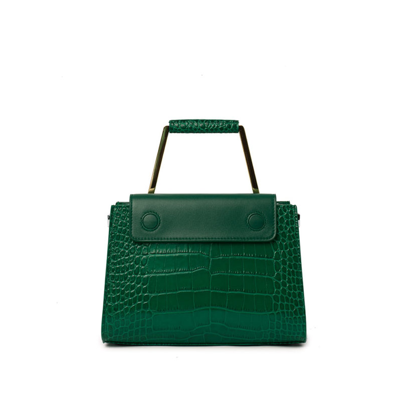Borsa a spalla donna Adele Big Cocco Green retro