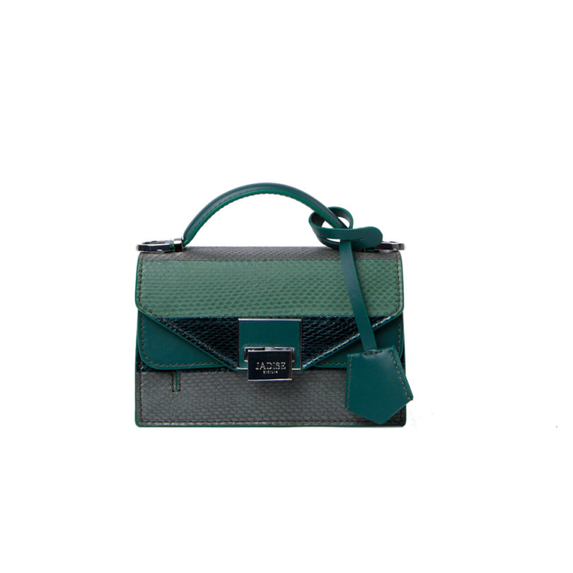 Mini bag donna Lily Snake Green occhietti