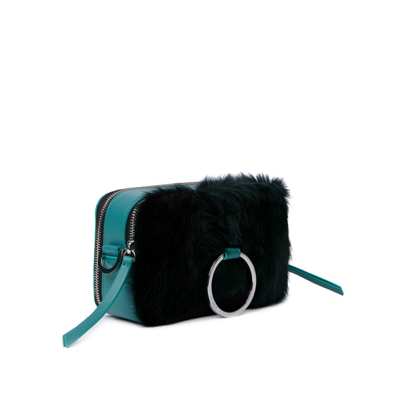 Borsa donna Mila Green Check fianco