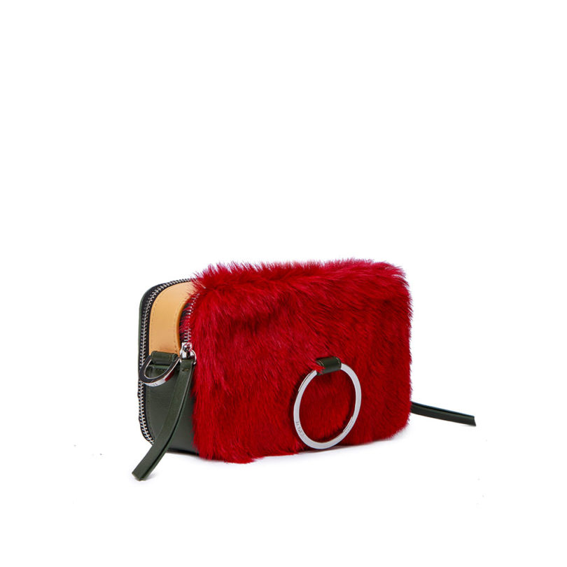 Borsa donna Mila Red Check fianco
