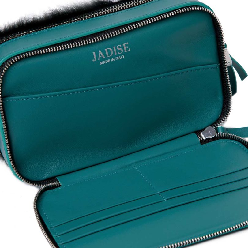 Pochette donna Mila Green Check interno