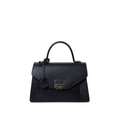Borsa pelle bovino donna Kate Basic nero