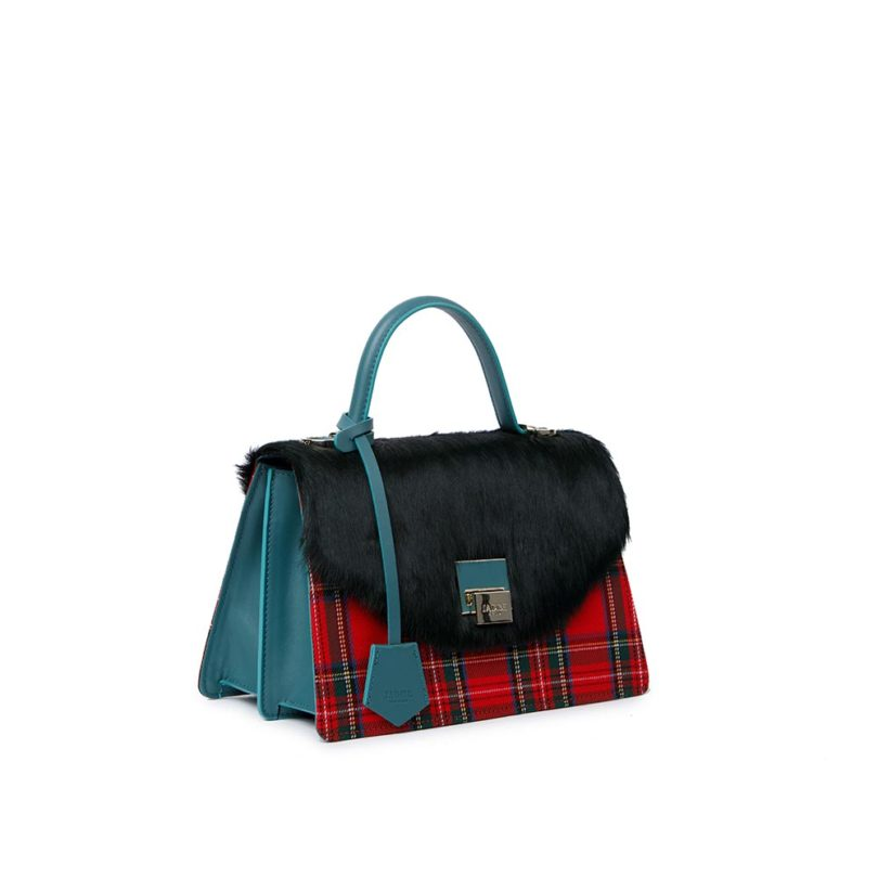 Borsa donna pelle Kate Green Check