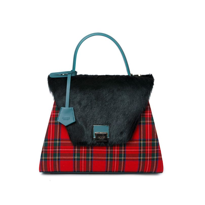 Baule donna pelle Sabrina Big Green Check
